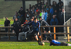 Westport Ryan Cafferkey attempts to add the points after Kevin Corcoran's 1st half try...Pic Conor McKeown