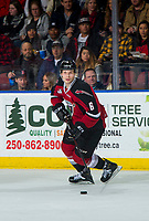 KELOWNA, BC - JANUARY 26:  Dylan Plouffe #6 of the Vancouver Giants skates with the puck against the Kelowna Rockets at Prospera Place on January 26, 2019 in Kelowna, Canada. (Photo by Marissa Baecker/Getty Images)