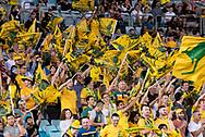 SYDNEY, AUSTRALIA - NOVEMBER 20: Australian fans at the international soccer match between Australia and Lebanon at ANZ Stadium in NSW, Australia. on November 20, 2018. (Photo by Speed Media/Icon Sportswire)