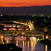 Florence at night..Florence, Italy.