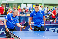 (Team CRO) JOZIC Pavao and REGOROVIC Vjekoslav in action during 15th Slovenia Open - Thermana Lasko 2018 Table Tennis for the Disabled, on May 11, 2018 in Dvorana Tri Lilije, Lasko, Slovenia. Photo by Ziga Zupan / Sportida
