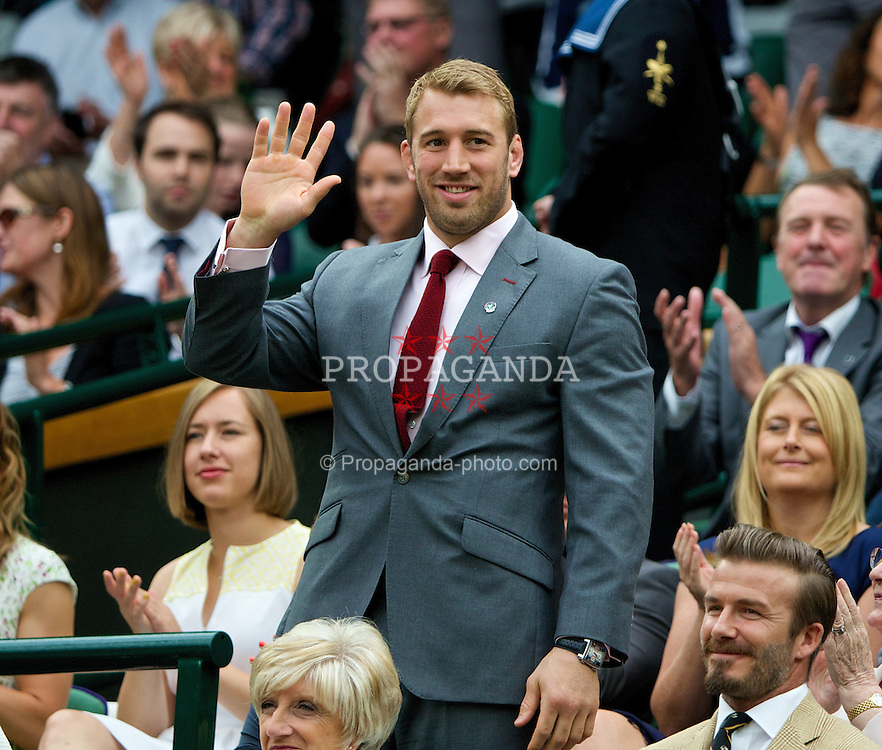 LONDON, ENGLAND - Saturday, June 28, 2014: Chris Robshaw in the Royal Box during day six of the Wimbledon Lawn Tennis Championships at the All England Lawn Tennis and Croquet Club. (Pic by David Rawcliffe/Propaganda)