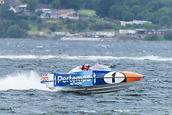 The P1 Scottish Grand Prix of the Sea is the second of four events across the UK for the P1 Powerboat Championship taking place at Greenock.<br /> <br /> Pictured: Pertemps Network team