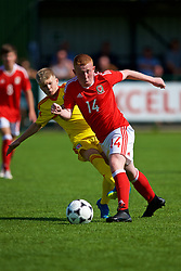 NEWPORT, WALES - Wednesday, July 25, 2018: Aaron Bennett and Ben Thomas during the Welsh Football Trust Cymru Cup 2018 at Dragon Park. (Pic by Paul Greenwood/Propaganda)