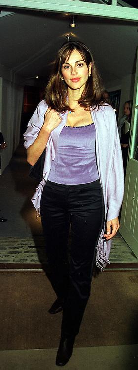 MISS TASHA DE VASCONCELOS MOTA E CUNHA a former close friend of Prince Albert of Monaco, at a party in London on 8th November 1999.MYS 63