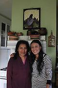 Kearny, New Jersey. November 19, 2013. Yadira Aleman with her mother, in her kitchen in Kearny. Photo by Maya Rajamani/NYCity Photo Wire