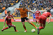 Wolverhampton Wanderers midfielder Dave Edwards on the ball during the Sky Bet Championship match between Wolverhampton Wanderers and Middlesbrough at Molineux, Wolverhampton, England on 24 October 2015. Photo by Alan Franklin.