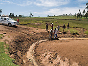 Building a crossing at one of the rivers on our way to Kotoba, Ethiopia