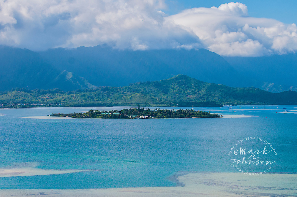 Coconut Island (Moku o Lo'e), University of Hawaii research station, Kaneohe Bay, Oahu, Hawaii
