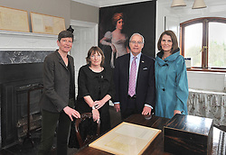 Pictured at the official launch of the exhibition 'Westport House and the Famine' Lady Sligo's Letters; were  Sheelyn Browne, Prof. Christine Kinealy from the Great Hunger Institute Quinnipac University, US Ambassador to Ireland Kevin O'Malley and his wife Deena.<br /> Pic Conor McKeown