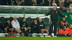 MONCHENGLADBACH, GERMANY - Wednesday, October 15, 2008: Wales' manager John Toshack MBE against Germany during the 2010 FIFA World Cup South Africa Qualifying Group 4 match at the Borussia-Park Stadium. (Photo by David Rawcliffe/Propaganda)