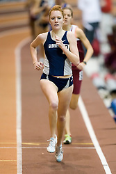 Elizabeth Maloy (Georgetown) in the women's 1000m run.  Day 2 of the Virginia Tech Invitational Track and Field meet was held at the Rector Field House on the campus of Virginia Tech in Blacksburg, VA on January 12, 2008.