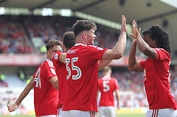 Oliver Burke of Nottingham Forest celebrates scoring his sides third goal - Mandatory by-line: Jack Phillips/JMP - 06/08/2016 - FOOTBALL - The City Ground - Nottingham, England - Nottingham Forest v Burton Albion - EFL Sky Bet Championship