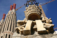 View of La Sagrada Familia, Barcelona, Spain<br />