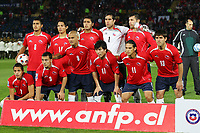 Fotball<br /> Foto: Piko Press/Digitalsport<br /> NORWAY ONLY<br /> <br /> CHILE (4) vs. COLOMBIA (0) in their World Cup 2010 qualifying soccer match in Santiago, Chile. September 10, 2008<br /> Here CHILE starting team<br /> Lagbilde Chile