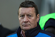 Chesterfield FC manager Danny Wilson during the Sky Bet League 1 match between Chesterfield and Shrewsbury Town at the Proact stadium, Chesterfield, England on 2 January 2016. Photo by Aaron Lupton.