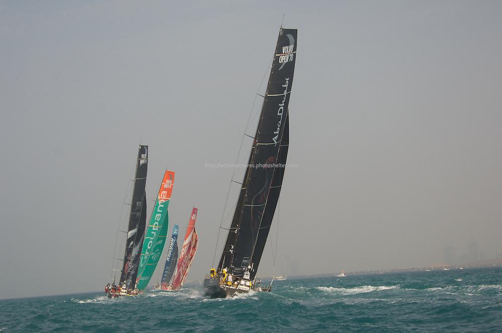 14.01.2012, Abu Dhabi. Volvo Ocean Race, leg 3 race