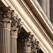Architectural details of St Paul's Cathedral, London. Completed 1697 by architect Sir Christopher Wren.