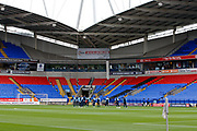 Leeds players get a look at the Bolton pitch before the EFL Sky Bet Championship match between Bolton Wanderers and Leeds United at the Macron Stadium, Bolton, England on 6 August 2017. Photo by Craig Galloway.