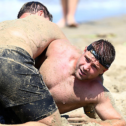 DURBAN, SOUTH AFRICA, December 10. 2015 - Johan Deysel during The Cell C Sharks Pre Season Beach South Beach training for the 2016 Super Rugby Season . (Photo by Steve Haag)<br /> images for social media must have consent from Steve Haag