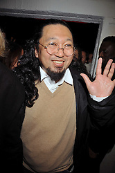 Artist Takashi Murakami at the Prada Congo Art Party hosted by Miuccia Prada and Larry Gagosian at The Double Club, 7 Torrens Street, London EC1 on 10th February 2009.