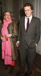 MISS LAURA PARKER BOWLES and her brother MR TOM PARKER BOWLES children of Camilla Parker Bowles, at a party in London on 5th April 2000.OCS 86<br /> © Desmond O'Neill Features:- 020 8971 9600<br />    10 Victoria Mews, London.  SW18 3PY  photos@donfeatures.com   www.donfeatures.com<br /> MINIMUM REPRODUCTION FEE AS AGREED.<br /> PHOTOGRAPH BY DOMINIC O'NEILL