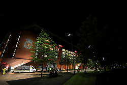 23rd August 2017 - UEFA Champions League - Play-Off (2nd Leg) - Liverpool v 1899 Hoffenheim - A general view (GV) of Anfield lit up at night - Photo: Simon Stacpoole / Offside.