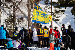 March 16, 2018 - Falun, SVERIGE - 180316 Publik under Svenska Skidspelen den 16 mars 2018 i Falun  (Credit Image: © Simon HastegRd/Bildbyran via ZUMA Press)