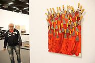 Europe, Germany, Cologne, the art exhibition Art Cologne at the exhibition centre in the town district Deutz, artwork without title by Arman...Europa, Deutschland, Koeln, Kunstmesse Art Cologne in den Deutzer Messehallen, Werk Ohne Titel von Arman. ***HINWEIS ZU DEN ABGEBILDETEN KUNSTWERKEN - RECHTE DRITTER SIND VOM NUTZER ZU KLAEREN*** ***PLEASE NOTE: THIRD PARTY RIGHTS OF THE SHOWN WORK OF ART MUST BE CHECKED BY THE USER***