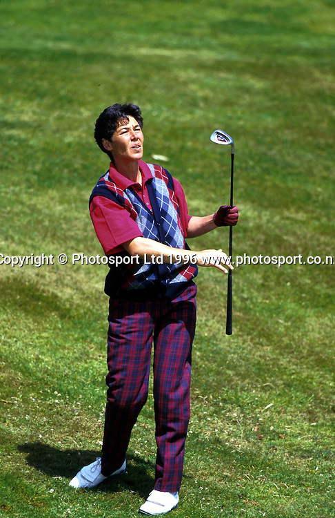 New Zealand women golfer, Brenda Ormsby, in action at the New Zealand Amateur Championship golf tournament, 1996. Photo: PHOTOSPORT