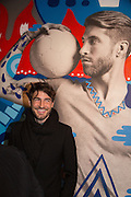 Steve Lazarides and Pepsi host a collaboration of Street Art, Photography and Football. Photos of footballers by Danny Clinch, paintings by 6 'leading street artists' Victoria House, Southampton Row. London. 17 February 2014.