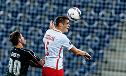 15.09.2016, Red Bull Arena, Salzburg, AUT, UEFA EL, FC Red Bull Salzburg vs FC Krasnodar, Gruppe I, 1. Runde, im Bild Fedor Smolov (FC Krasnodar), Duje Caleta-Car (FC Red Bull Salzburg) // during the UEFA Europa League, group I, 1st round match betweenFC Red Bull Salzburg and FC Krasnodar at the Red Bull Arena in Salzburg, Austria on 2016/09/15. EXPA Pictures © 2016, PhotoCredit: EXPA/ JFK