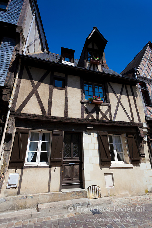 Architecture of Chinon, Indre-et-Loire, Loire valley, Central region, France