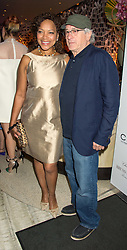 GRACE HIGHTOWER and ROBERT DE NIRO at a party to celebrate the 10th anniversary of Nobu Berkeley Street held on 5th November 2015.