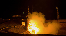 The Soyuz TMA-20M rocket launches from the Baikonur Cosmodrome in Kazakhstan early on Saturday, March 19, 2016 carrying Expedition 47 Soyuz Commander Alexey Ovchinin of Roscosmos, Flight Engineer Jeff Williams of NASA, and Flight Engineer Oleg Skripochka of Roscosmos into orbit to begin their five and a half month mission on the International Space Station. NASA astronaut Jeff Williams - a 58 year old grandfather of three - looks set to break the world record for the longest (accumulated) time by an American in space during his mission, he will break Scott Kelly's record of the American with the most cumulative days in space. Kelly returned from his year in space with a total of 520 days in space, but Williams will return from this mission with a total of 534 days. EXPA Pictures © 2016, PhotoCredit: EXPA/ Photoshot/ Aubrey Gemignani/Atlas Photo Archive/NASA<br /> <br /> *****ATTENTION - for AUT, SLO, CRO, SRB, BIH, MAZ, SUI only*****
