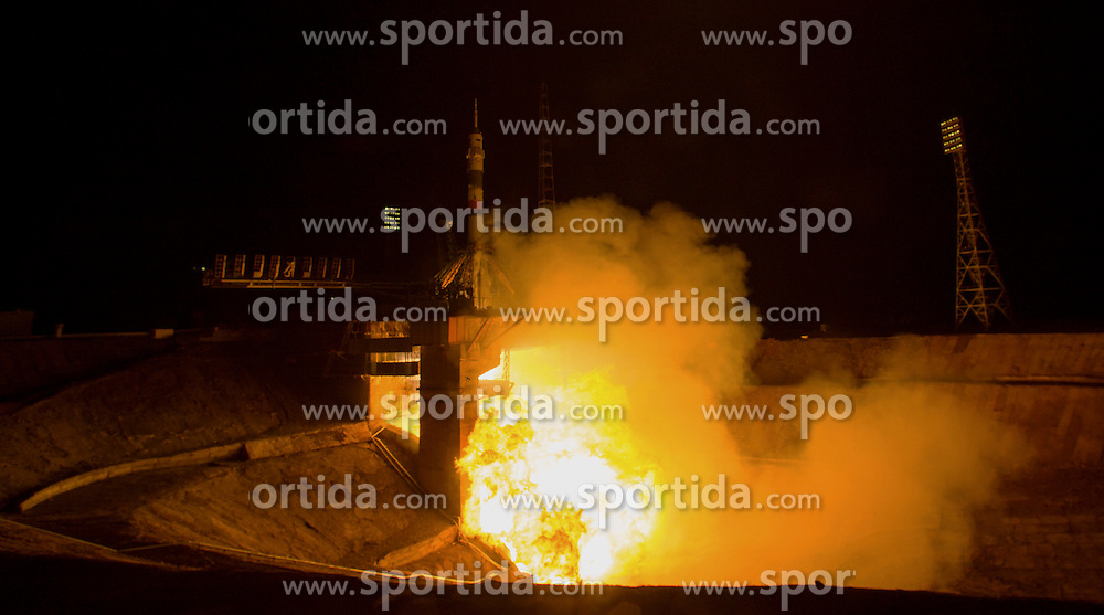 The Soyuz TMA-20M rocket launches from the Baikonur Cosmodrome in Kazakhstan early on Saturday, March 19, 2016 carrying Expedition 47 Soyuz Commander Alexey Ovchinin of Roscosmos, Flight Engineer Jeff Williams of NASA, and Flight Engineer Oleg Skripochka of Roscosmos into orbit to begin their five and a half month mission on the International Space Station. NASA astronaut Jeff Williams - a 58 year old grandfather of three - looks set to break the world record for the longest (accumulated) time by an American in space during his mission, he will break Scott Kelly&rsquo;s record of the American with the most cumulative days in space. Kelly returned from his year in space with a total of 520 days in space, but Williams will return from this mission with a total of 534 days. EXPA Pictures &copy; 2016, PhotoCredit: EXPA/ Photoshot/ Aubrey Gemignani/Atlas Photo Archive/NASA<br /> <br /> *****ATTENTION - for AUT, SLO, CRO, SRB, BIH, MAZ, SUI only*****