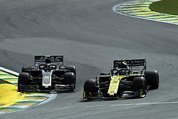 November 17, 2019, Sao Paulo, Brazil: xa9; Photo4 / LaPresse.17/11/2019 Sao Paulo, Brazil.Sport .Grand Prix Formula One Brazil 2019.In the pic: Daniel Ricciardo (AUS) Renault Sport F1 Team RS19 and Kevin Magnussen (DEN) Haas F1 Team VF-19 (Credit Image: © Photo4/Lapresse via ZUMA Press)