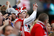 Middlesbrough fans during the EFL Sky Bet Championship match between Middlesbrough and Aston Villa at the Riverside Stadium, Middlesbrough, England on 12 May 2018. Picture by Paul Thompson.