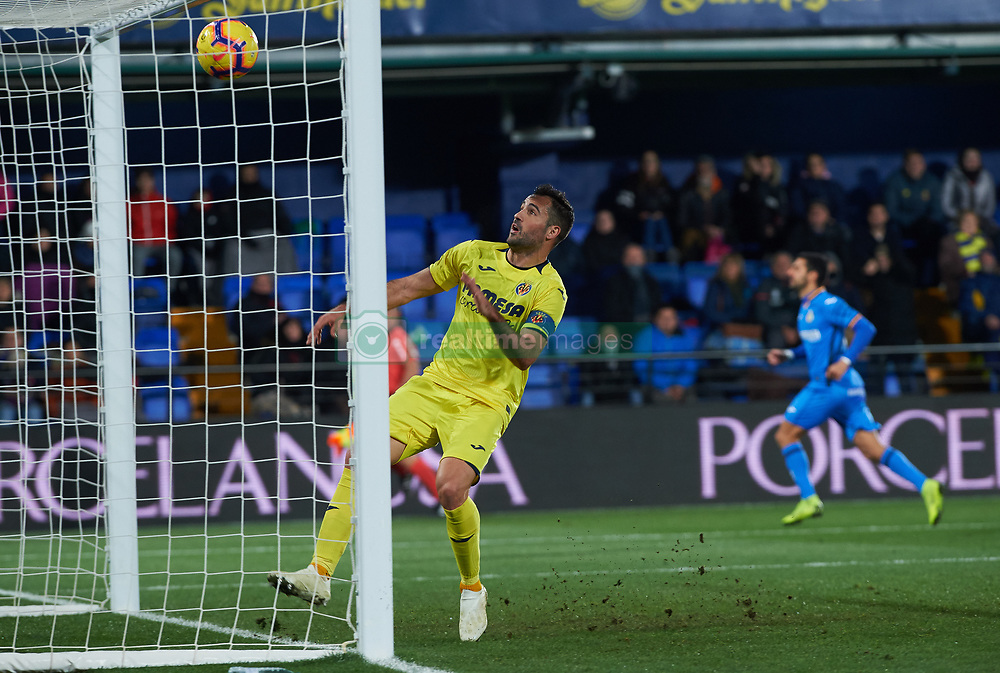 January 12, 2019 - Valencia, Valencia, Spain - Mario Gaspar of Villarreal during the La Liga Santander match between Villarreal and Getafe at La Ceramica Stadium on Jenuary 12, 2019 in Vila-real, Spain. (Credit Image: © AFP7 via ZUMA Wire)