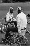 Disabled Fencing CISWO Open Day. Pontefract...© Martin Jenkinson, tel 0114 258 6808 mobile 07831 189363 email martin@pressphotos.co.uk. Copyright Designs & Patents Act 1988, moral rights asserted credit required. No part of this photo to be stored, reproduced, manipulated or transmitted to third parties by any means without prior written permission