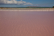Salt flats at Cabo Rojo wildlife preserve Puerto Rico