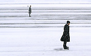 Secret Service agents await the arrival of Air Force One at Manchester Boston Regional Airport;  Thursday, March 1, 2012. <br />