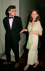 MR JONATHAN & LADY ELIZABETH BARING, she is the daughter of the Earl & Countess of Airlie, at a dinner in London on 1st July 1997.LZW 61