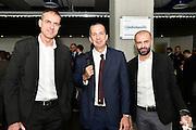 Sandro Dell'Agnello, De Raffaele Walter, Maurizio Buscaglia<br /> Presentazione Campionato Lega Basket 2016-2017<br /> Basket Serie A  2016<br /> Milano 26/09/2016<br /> Foto Ciamillo-Castoria