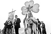 Pilgrims on the Summit of Croke Patrick (St Patricks Mountain), Co Mayo,Ireland on the last Sunday in July. Photograph by Eamon Ward