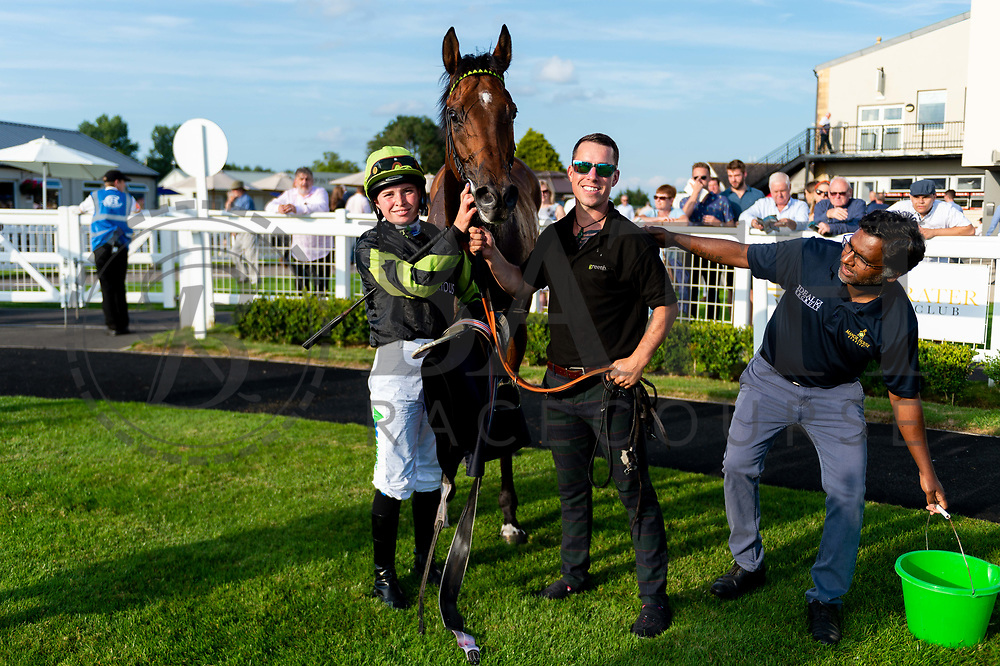 """Charlie D ridden by Jane Elliott and trained by Tom Dascombe in the Play """"Four From The Top"""" At Valuerater.Co.Uk Handicap (Value Rater Racing Club Summer Stayers' Qual) race.  - Ryan Hiscott/JMP - 02/08/2019 - PR - Bath Racecourse - Bath, England - Race Meeting at Bath Racecourse"""