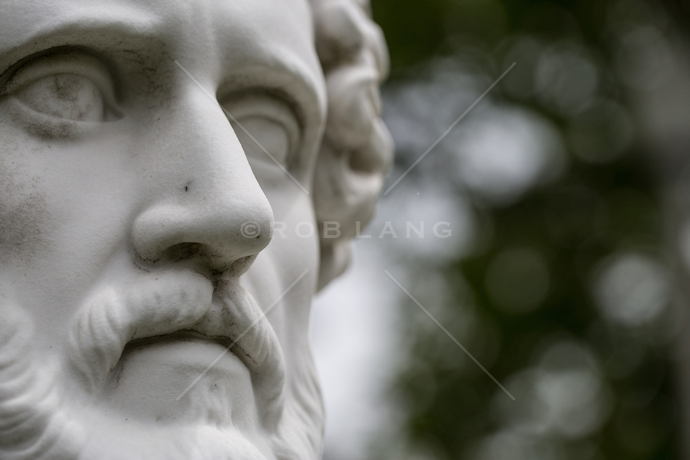 marble portrait at the Parish Art Museum in Southampton, NY