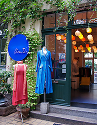 Fashion clothing boutique in courtyard at Hackesche Hofe in Mitte Berlin Germany