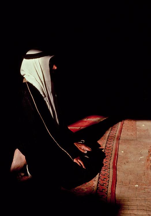 Muslim elder at prayers