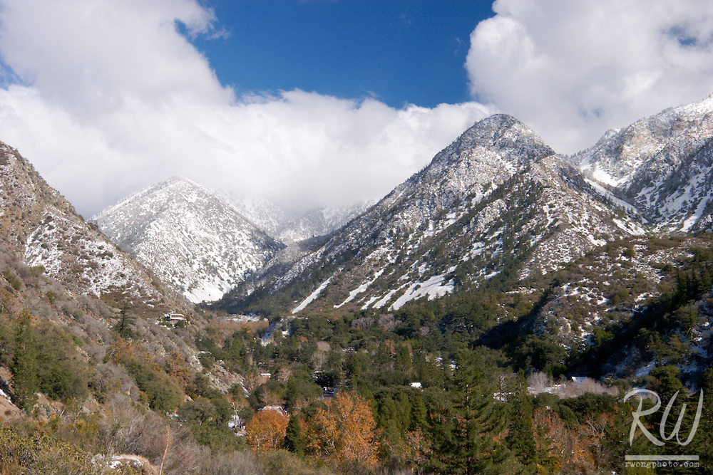 Mount Baldy Village First Winter Snow, Southern California